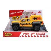 Dickie Toys Action Series - Sárga pick-up autó fénnyel és hanggal