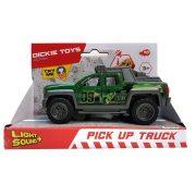 Dickie Toys Action Series - Zöld pick-up autó fénnyel és hanggal