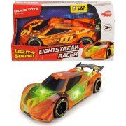 Dickie Toys Racing felhúzható versenyautó fény- és hangeffektekkel - Lightstreak Racer