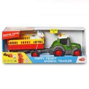 Dickie Toys Happy Series - Fendt traktor állítszállító utánfutóval