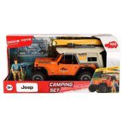 Dickie Toys Playlife - Jeep Wrangler terepjáró kemping játékszett
