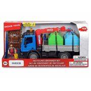 Dickie Toys Playlife - Szelektív hulladékgyűjtő IVECO teherautó készlet