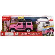Dickie Toys Playlife - Pink Mercedes terepjáró lószállítóval játékszett