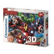 Clementoni 20606 3D Vision Puzzle - Marvel Bosszúállók (104db)