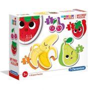 Clementoni 20815 My First SuperColor puzzle - Gyümölcsök 4 az 1-ben forma puzzle szett
