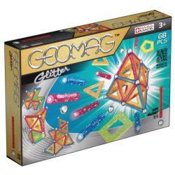Geomag GLITTER csillámos mágneses építőjáték 68 db