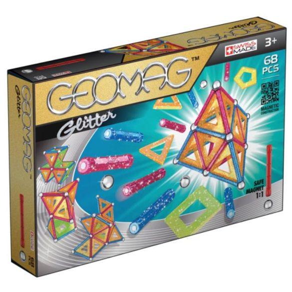 Geomag Glitter csillogó mágneses építőjáték (68 db)