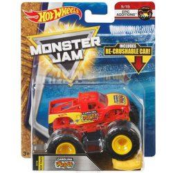 Hot Wheels Monster Jam kisautók kilapítható gumiautóval - CAROLINA CRUSHER