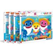 Clementoni 22109 Supercolor Puzzle kerettel - Baby shark (30 db) - többféle