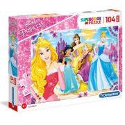 Clementoni 23714 Maxi puzzle - Disney hercegnők (104 db)