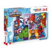 Clementoni 24208 SuperColor Maxi Puzzle - Marvel hősök (24 db-os)