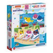 Clementoni 24777 SuperColor Puzzle - Baby Shark (2x20db)