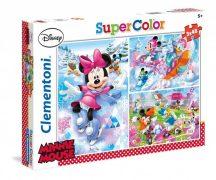 Clementoni Super Color puzzle - Minnie egér (3x48 db-os) 25198