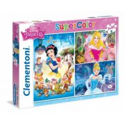 Clementoni 25211 Super Color puzzle - Hercegnők (3x48 db-os)