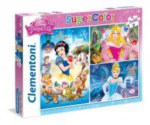 Clementoni Super Color puzzle - Hercegnők (3x48 db-os) 25211