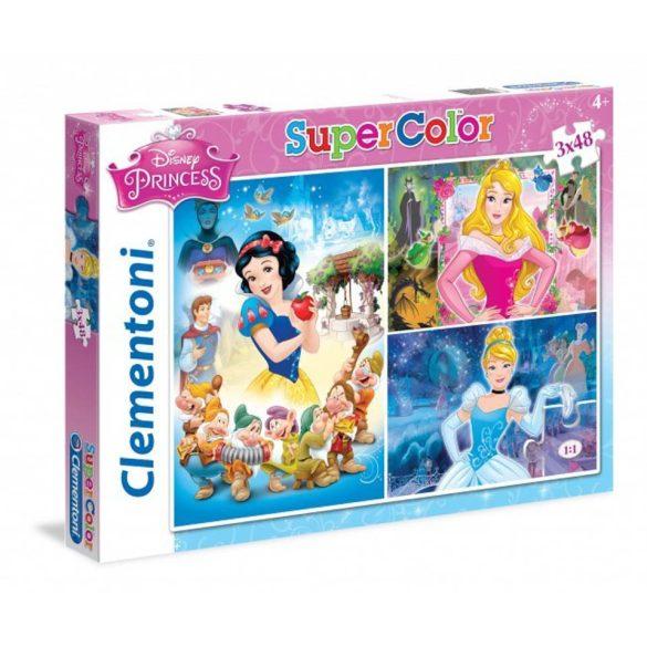 Clementoni 25211 Super Color puzzle - Hercegnõk (3x48 db-os)
