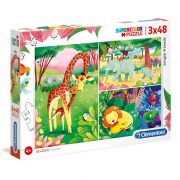 Clementoni 25233 SuperColor puzzle - Dzsungel állatok (3x48 db)