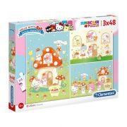 Clementoni 25246 SuperColor Puzzle - Hello Kitty (3x48 db)