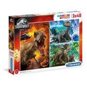 Clementoni 25250 SuperColor Puzzle - Jurassic World (3x48 db)