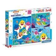 Clementoni 25261 SuperColor Puzzle - Baby Shark (3x48 db)