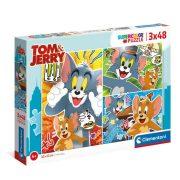 Clementoni 25265 SuperColor Puzzle - Tom és Jerry (3x48 db)