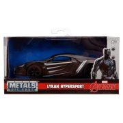 Jada Hollywood Rides Marvel fém autómodell - Fekete párduc Lykan Hybersport (1:32)