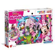 Clementoni 25462 SuperColor Padló Puzzle - Minnie egér és Daisy kacsa (40 db)