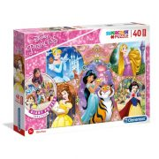 Clementoni 25463 SuperColor Padló Puzzle - Disney hercegnõk (40 db)