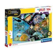 Clementoni 25715 SuperColor National Geographic Kids Puzzle - Felfedezõk (104 db)