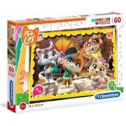 Clementoni 26052 SuperColor puzzle - 44 csacska macska (60 db)