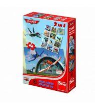 Dino 2in1 puzzle és memóriajáték - Repcsik (66 db-os)