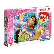 Clementoni 26995 SuperColor Puzzle - Disney hercegnõk (60 db)
