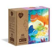 Clementoni 26998 Play for Future puzzle - Őrült dinó barátok (60 db)