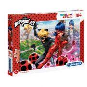 Clementoni 27077 SuperColor Puzzle - Miraculous katicabogár és Fekete macska (104 db)