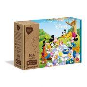 Clementoni 27153 Play for Future puzzle - Mickey egér és barátai piknikeznek (104 db)