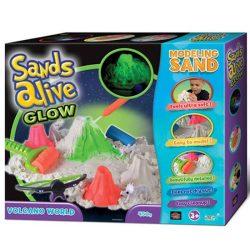 Sands Alive! Világító vulkán homokgyurma készlet