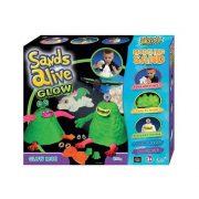 Sands Alive! Világító szörnyecskék homokgyurma készlet
