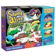 Sands Alive! Világító járgányok homokgyurma készlet