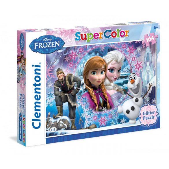 Clementoni 27248 Super Color puzzle - Csillámos Jégvarázs (104 db-os)