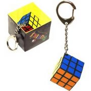 Rubik kocka 3x3x3 kulcstartó hexa csomagolásban