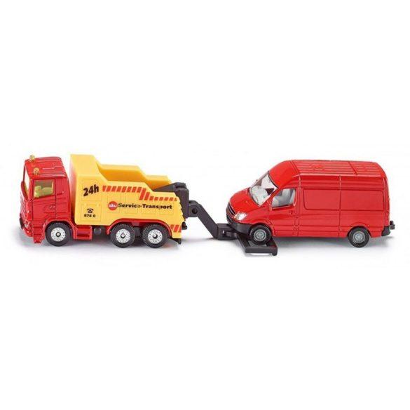 SIKU 1667 Autómentő teherautóval