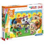 Clementoni 28500 SuperColor Maxi puzzle - 44 csacska macska (24 db)