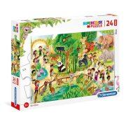 Clementoni 28505 SuperColor Maxi Puzzle - Állatkert (24 db)