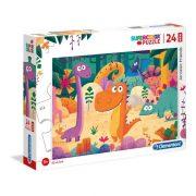 Clementoni 28506 SuperColor Maxi Puzzle - Dinó barátok (24 db)