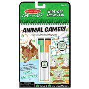 Melissa & Doug Letörölhető lapok - Állati játékok