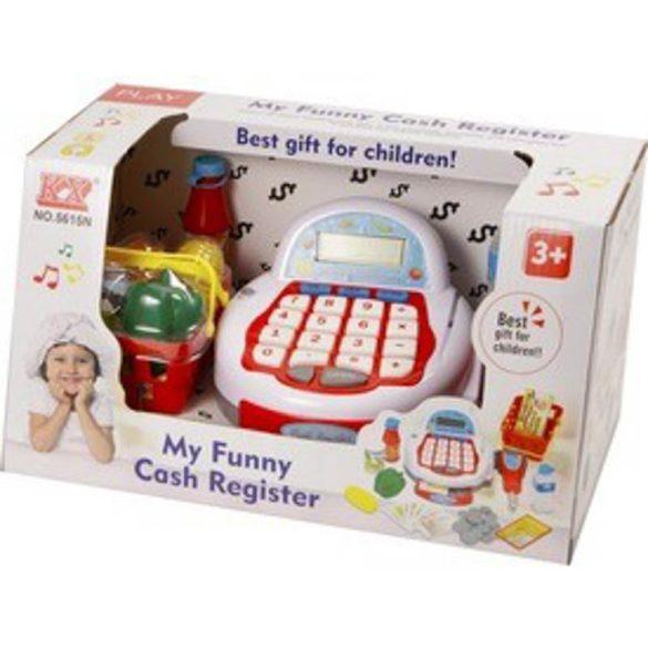 Elemes pénztárgép (piros-fehér)