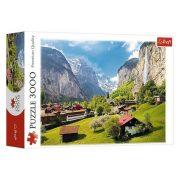 Trefl 33076 Premium Quality puzzle - Lauterbrunnen, Svájc (3000 db)