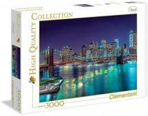 Clementoni High Quality Collection puzzle - New York éjszaka (3000 db-os) 33544
