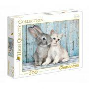 Clementoni 35004 puzzle - Nyuszi és cica (500 db-os)