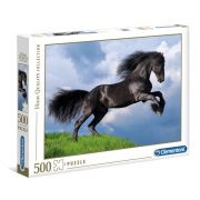 Clementoni 35071 High Quality Collection puzzle - Fekete fríz ló (500 db)